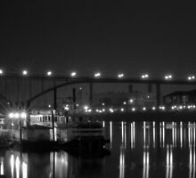 St Paul Bridge In Black & White by tvlgoddess