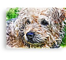 the scruffiest dog in the world Canvas Print