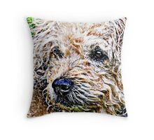 the scruffiest dog in the world Throw Pillow
