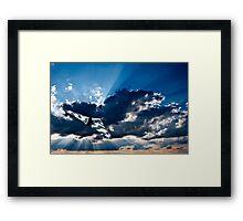 the wide blue yonder Framed Print