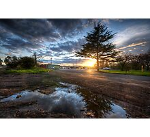 Sunset & Puddle Reflections  Photographic Print