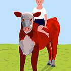 Boy and Calf by Fred Jinkins