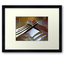 friendly forks..... Framed Print