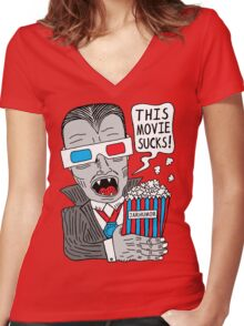 This Movie Sucks Women's Fitted V-Neck T-Shirt