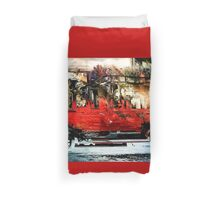 Present Delivery Wagon Duvet Cover
