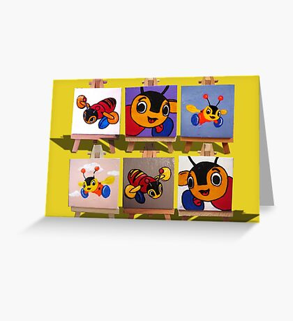 Buzzy Bee Montage Greeting Card
