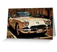 Corvette Chevrolet sketched Greeting Card