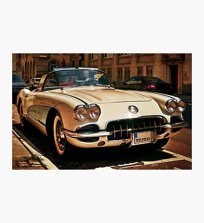 Corvette Chevrolet sketched Photographic Print