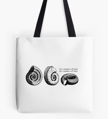 Math Spiral Shells Tote Bag