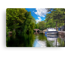 bishop's bridge and a boat Metal Print