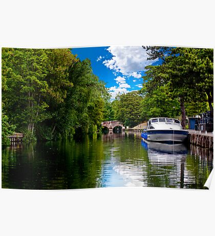 bishop's bridge and a boat Poster