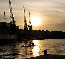 Sunset, Bristol Harbour by Fincher Trist