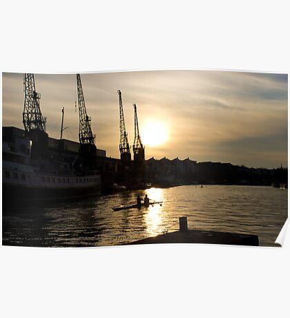 Sunset, Bristol Harbour Poster