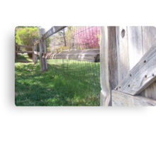 once upon a fence Canvas Print