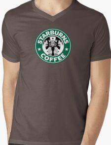 Starburns Coffee Mens V-Neck T-Shirt