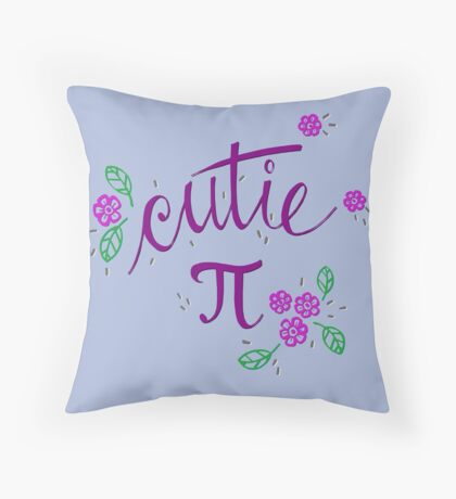 Cutie Pi (Purple) Throw Pillow