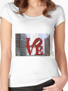 Love Park Women's Fitted Scoop T-Shirt