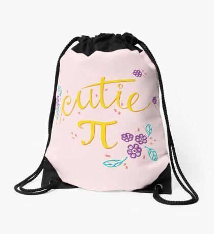 Cutie Pi (Pink) Drawstring Bag