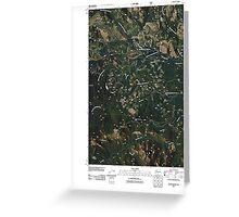 USGS Topo Map Washington State WA Raven Roost 20110428 TM Greeting Card
