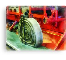 Coiled Hose on Fire Truck Canvas Print