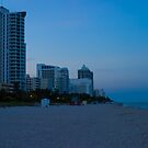 South Beach North Dusk Florida by Henry Plumley
