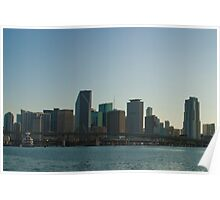 Downtown Miami Across Biscayne Bay Poster