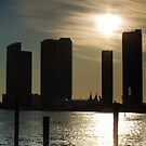 Miami Buildings at Sunset by Henry Plumley