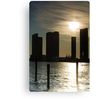 Miami Buildings at Sunset Canvas Print