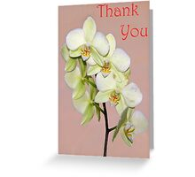 Orchid Thank You Card Greeting Card
