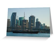 Tall Ship Biscayne Bay Miami Florida Greeting Card