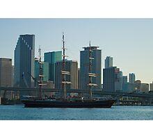 Tall Ship Biscayne Bay Miami Florida Photographic Print