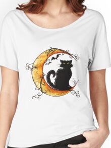 The cat and the moon. Women's Relaxed Fit T-Shirt