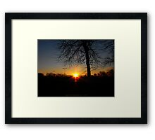 saturday sunrise Framed Print
