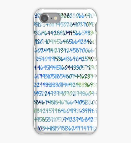 Digits of Pi (Green & Blue) iPhone Case/Skin