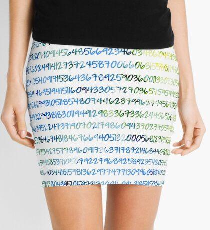 Digits of Pi (Green & Blue) Mini Skirt