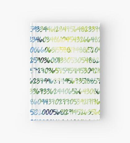 Digits of Pi (Green & Blue) Hardcover Journal