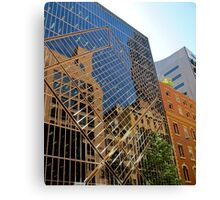 reflections of buildings Canvas Print