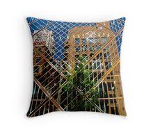 geometric street scene Throw Pillow