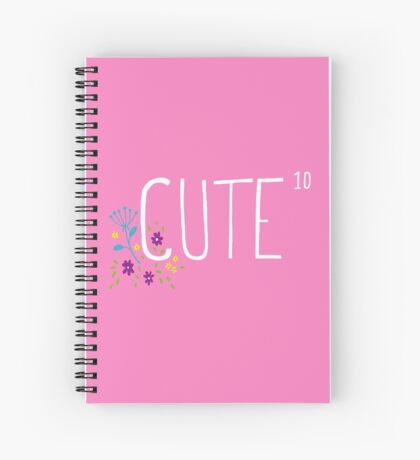Cute to the power of 10 Spiral Notebook