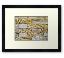 stone blocks Framed Print