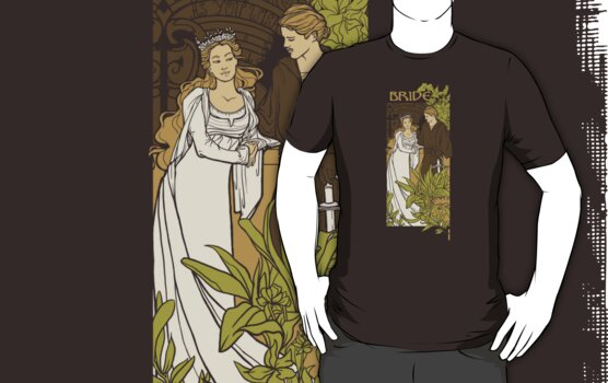 Bride Nouveau, Tee Fury version by Karen  Hallion