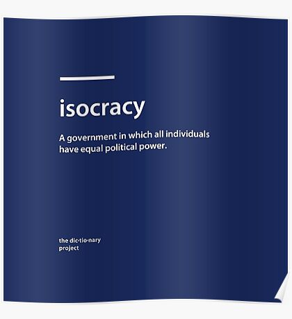 Dictionary Project - Isocracy Poster