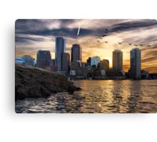 Boston Harbor at Sunset Canvas Print