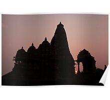 Khajuraho Sunset Poster