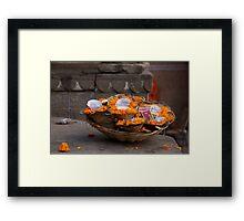 Marigold Floating Candles Framed Print