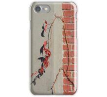 Urban Red Wall Vine iPhone Case/Skin