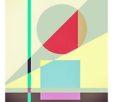 Modern Abstract Geometrical Print Photographic Print