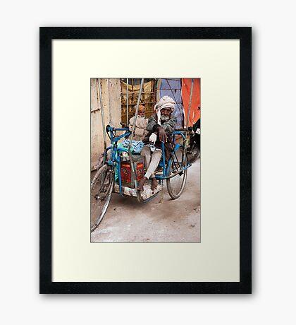 Pedicycle Man Framed Print