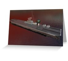 Light Aircraft Carrier (Formative Render) Greeting Card