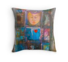 Blue Buddha Throw Pillow